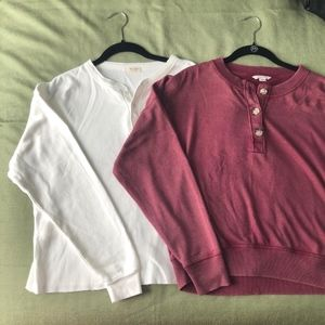 2 for 1: long sleeved tops